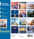 Down East 2018 Maine Lighthouses Wall Calendar Back Cover