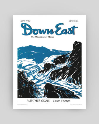 Down East Magazine April 1963 Cover Poster