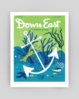 Down East Magazine May 1962 Cover Poster