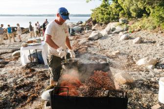Maine Island Getaway -Baking Lobster