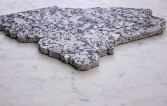 State of Maine Granite Cheeseboard - From Side