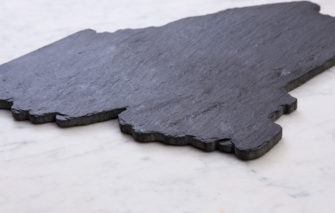State of Maine Slate Cheeseboard - From Side