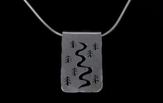 Carrabassett Valley Jewelry - Tree Tracks Pendant