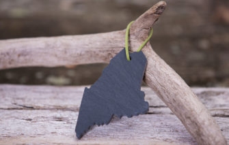 Slate Maine Ornament by A&E Stoneworks
