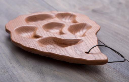 6 Well Oyster Platter - Cherry