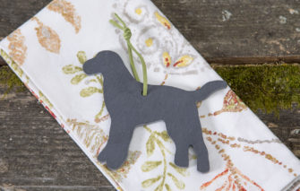 Slate labrador dog ornament by A and E Stoneworks