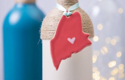 Maine Ornament - Coral