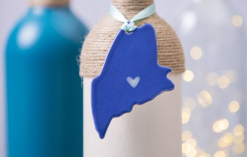 Maine Ornament - Deep Blue