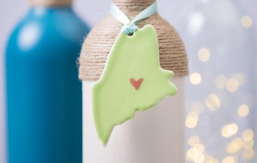 Maine Ornament - Green