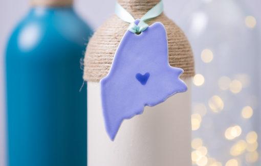 Maine Ornament - Light Blue