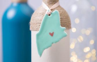 Maine Ornament - Seafoam