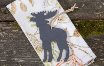 Slate moose ornament by A and E Stoneworks