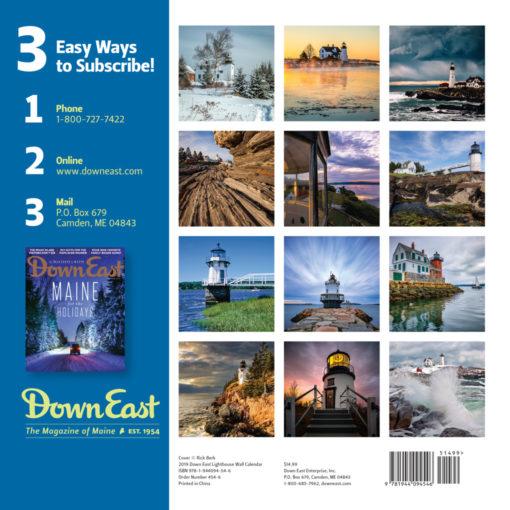 Down East 2019 Maine Lighthouses Calendar