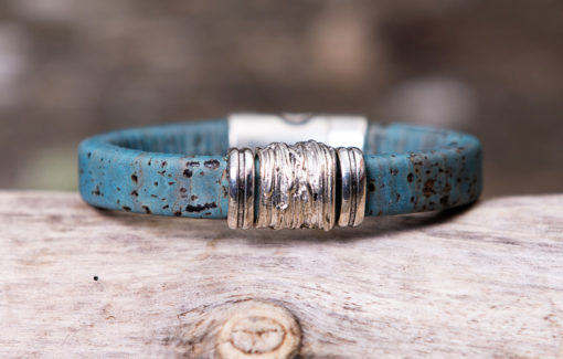 Gem Lounge Jewelry - Bracelet - Blue Cork Bead