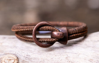 Gem Lounge Jewelry - Bracelet - Brown Cork Copper Open Hook