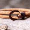 Gem Lounge Jewelry - Bracelet - Tan Cork Copper Open Hook