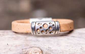 Gem Lounge Jewelry - Bracelet - Tan Cork Hole Bead