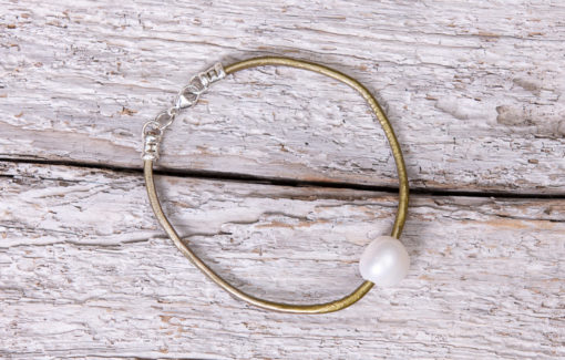 LESL Ware - Single Pearl Bracelet - Brass