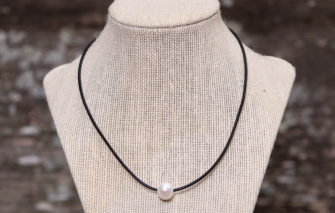 LESL Ware - Single Pearl Necklace - Little Black Dress