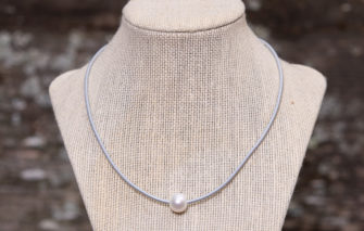 LESL Ware - Single Pearl Necklace - Fog