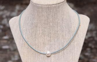 LESL Ware - Single Pearl Necklace - Seafoam
