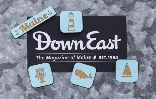 163 Design Co. - Magnet Set - Maine - Baby Blue