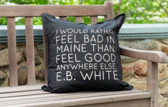 Stacey Kane Design - Pillow - E.B. White - Black