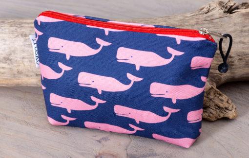 Trosko Design - Zippy Bag - Whales - Pink