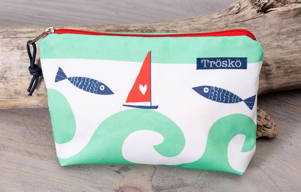Trosko Design Zippy Bag Wild Waves Green