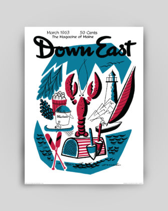 Down East Magazine March 1963 Cover Poster