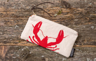Cobalt Sky Studio - Lobster Catch Clutch - Front
