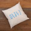 NikLinDesigns - Maine Zip Code Pillow - 04843 Light Blue