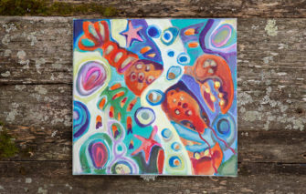 Caroline Clare Davis - Lobster Acrylic