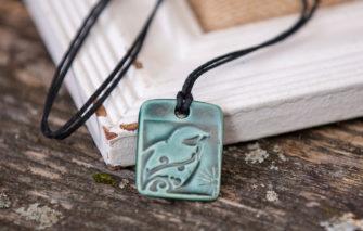 Jess Teesdale Pottery - Charm - Bird - Green