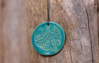 Jess Teesdale Pottery - Ornament - Fox - Aqua