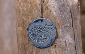 Jess Teesdale Pottery - Ornament - Fox - Indigo