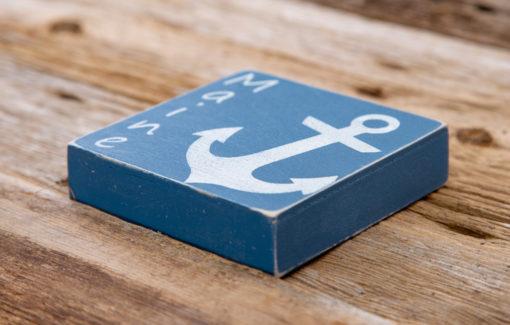 Salt Air Designs - 4x4 Anchor - Casco Bay - Side