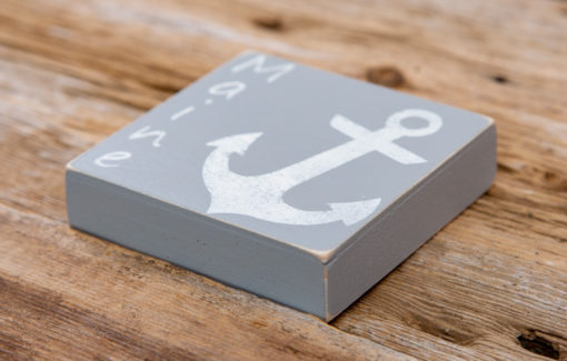 Salt Air Designs - 4x4 Anchor - Driftwood - Side