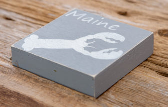 Salt Air Designs - 4x4 Lobster - Driftwood - Side