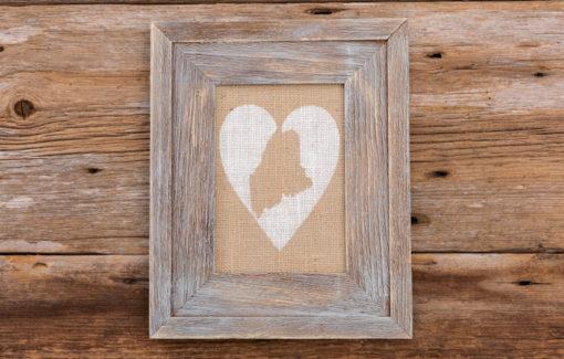 Salt Air Designs - 5x7 Heart with Maine