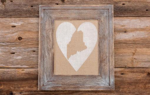 Salt Air Designs - 8x10 Heart with Maine