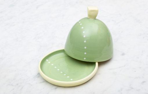 Lola Arts - Butter Dish - Green - Small