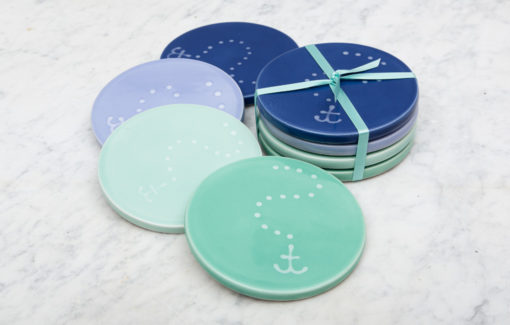 Lola Arts - Coasters - Anchor - Blues