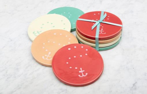 Lola Arts - Coasters - Anchor - Retro