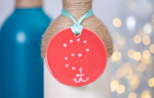 Lola Arts - Ornament - Anchor - Coral