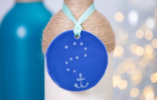 Lola Arts - Ornament - Anchor - Deep Blue