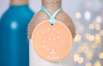 Lola Arts - Ornament - Anchor - Grapefruit
