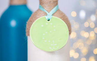 Lola Arts - Ornament - Anchor - Green