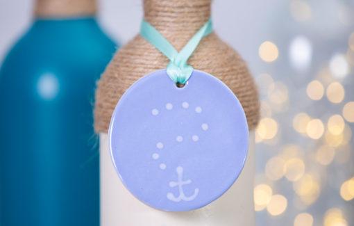 Lola Arts - Ornament - Anchor - Light Blue