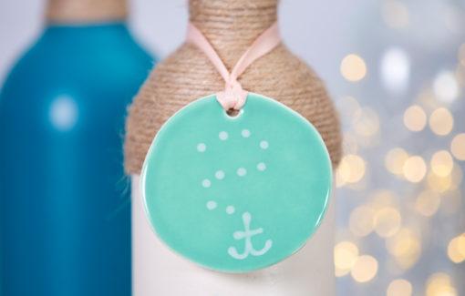 Lola Arts - Ornament - Anchor - Seafoam